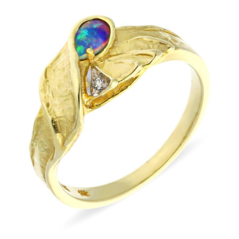 Schwarzopal-Ring Bicolor
