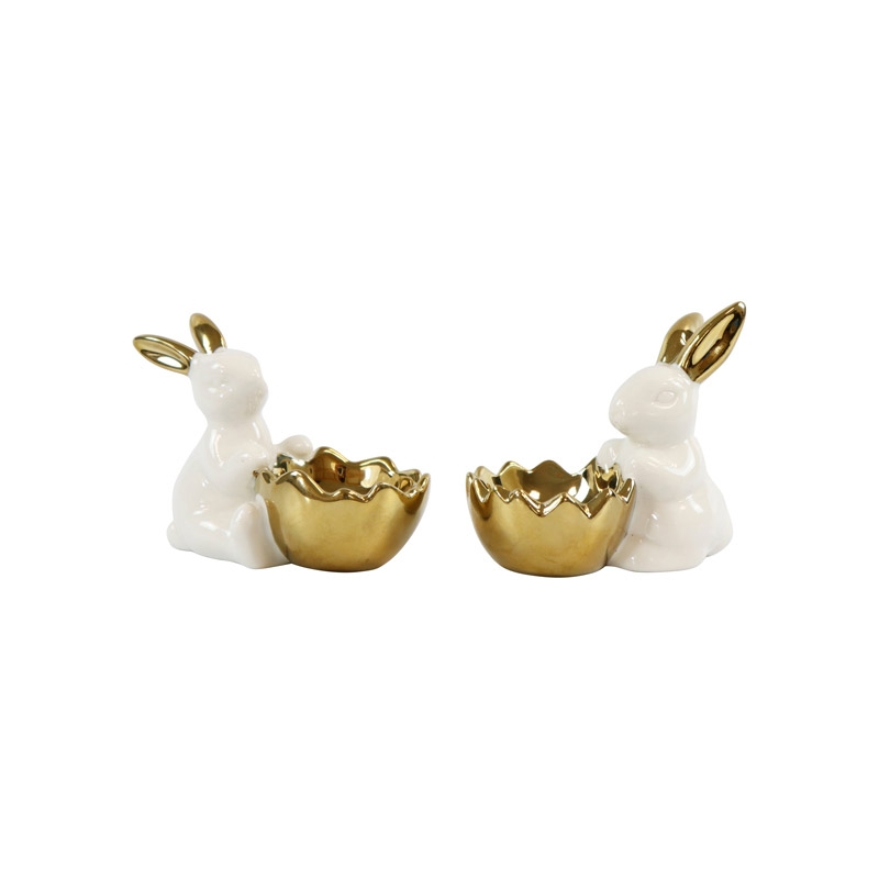 Eierbecher Hasenpaar aus Keramik