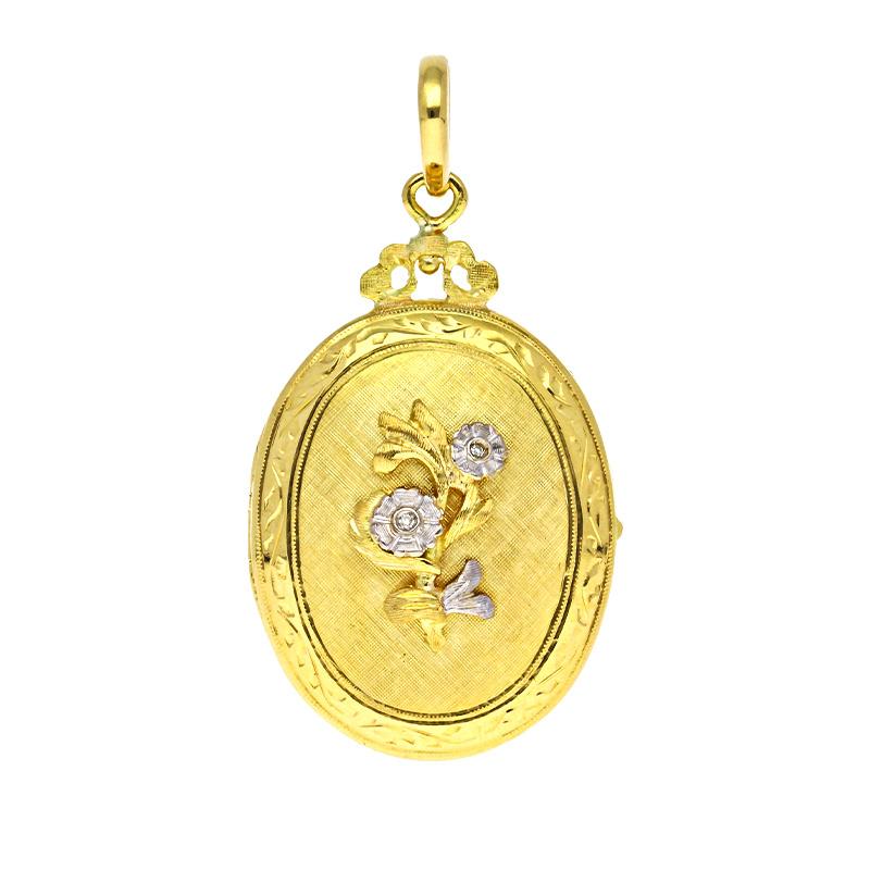 Medaillon Gelbgold