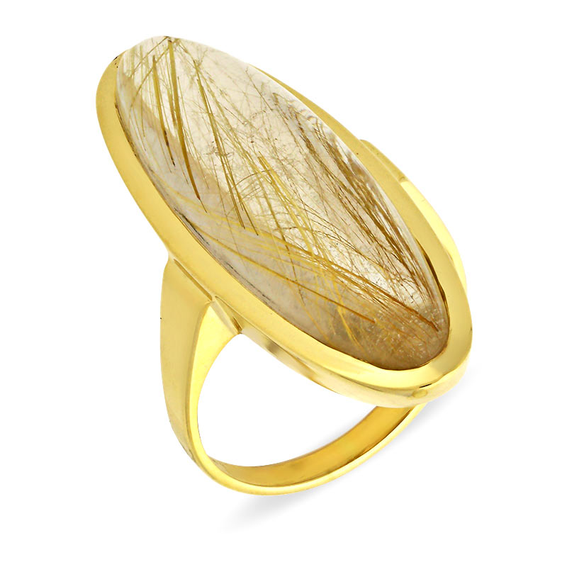 Rutilquarz-Ring Gelbgold
