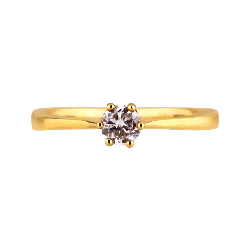 Brillant-Ring Gelbgold 0,18 ct