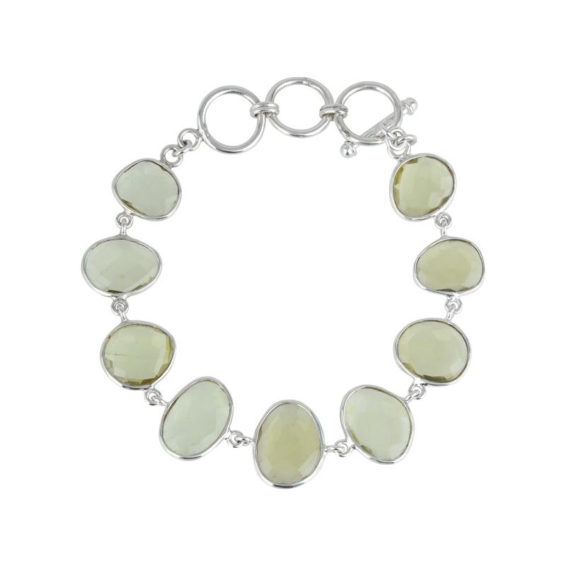 Lemonquarz-Armband Silber