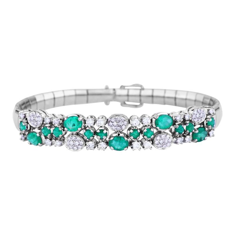Armband mit Smaragden und Brillanten