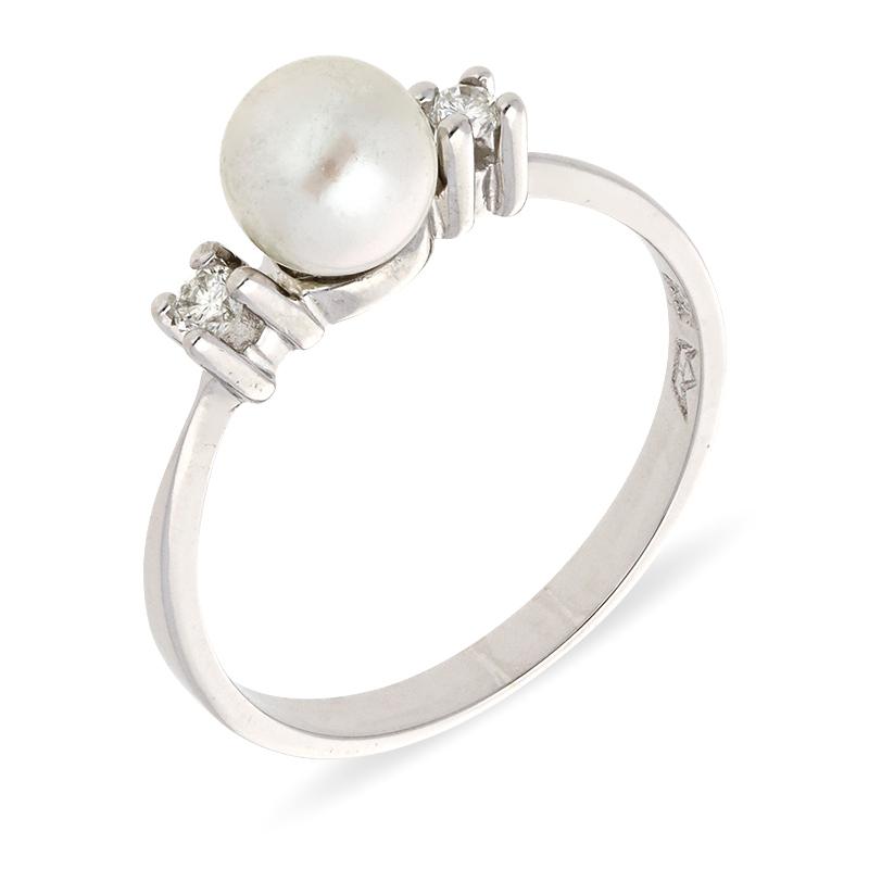Akoya-Perl-Ring Weißgold