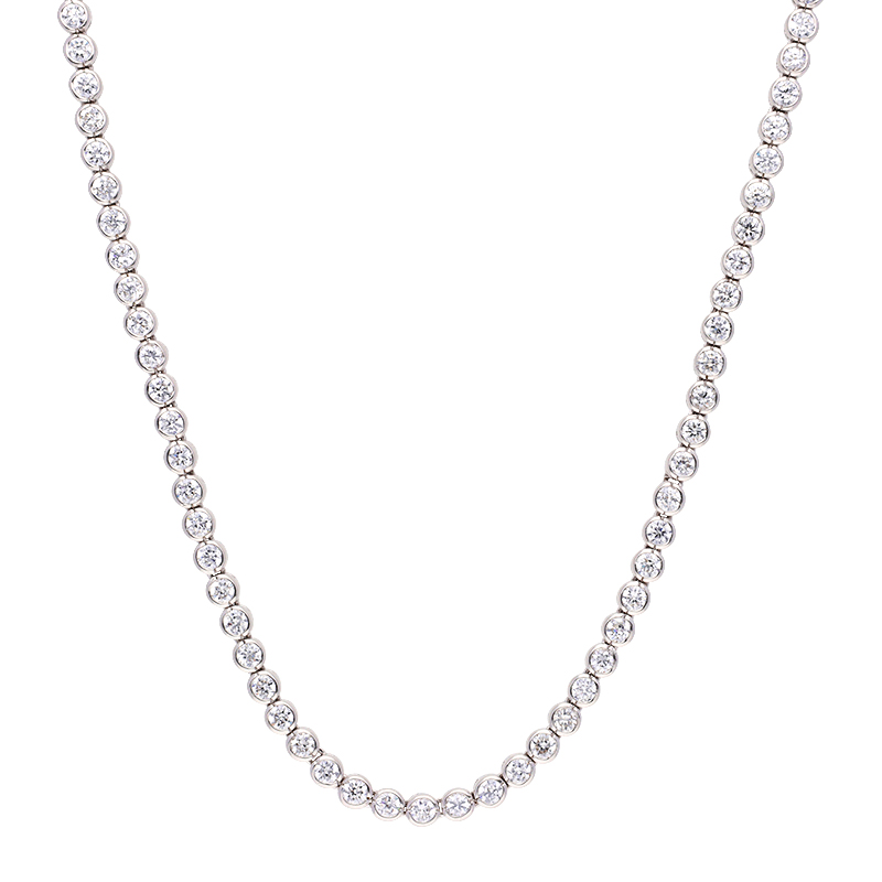 Zirkonia-Halsschmuck Silber