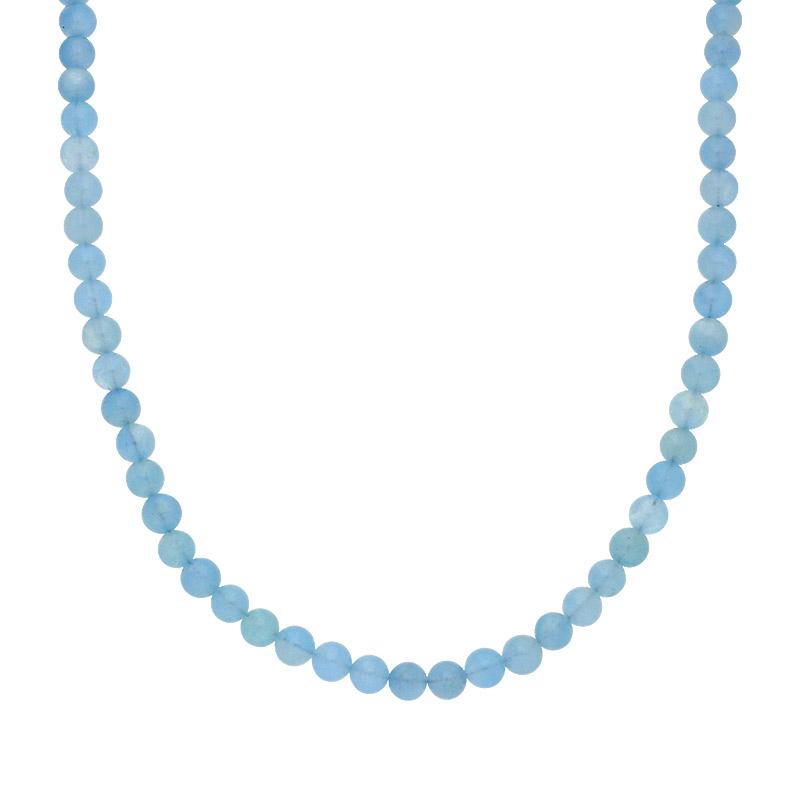 Aquamarin-Kette Silber