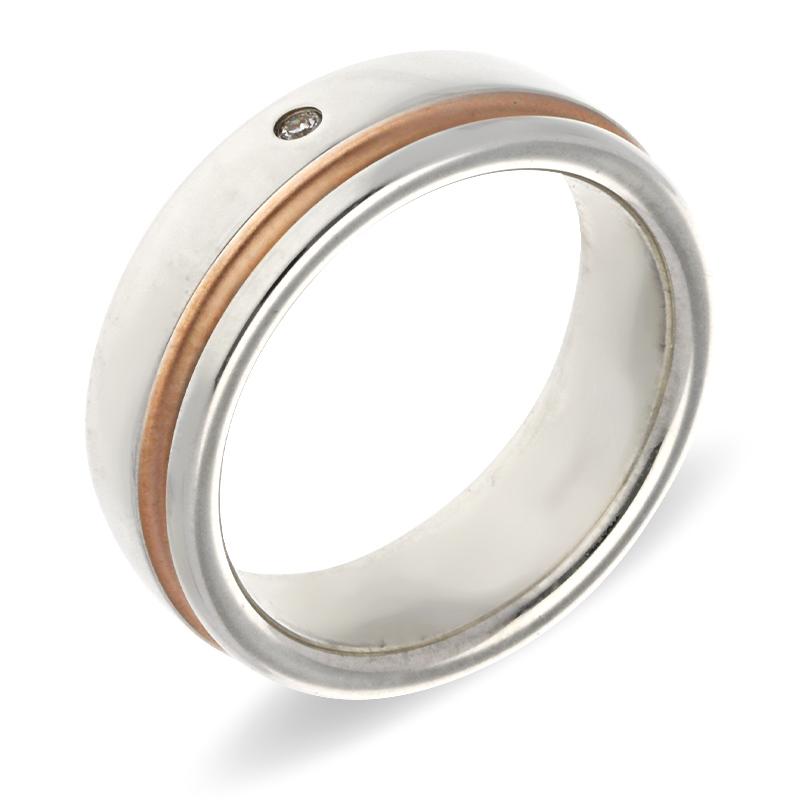 Brillant-Ring Silber