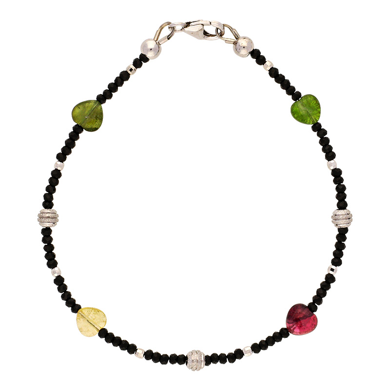 Spinell-Armband Silber