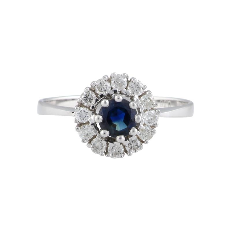 Safir-Ring Weißgold