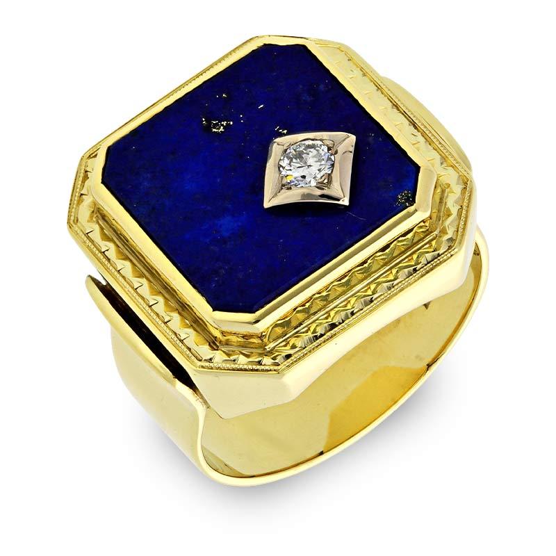 Lapislazuli-Ring Gelbgold