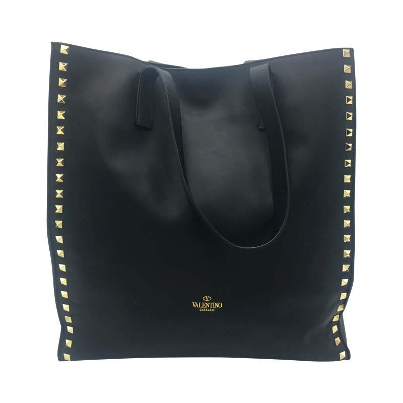 Valentino Shopper ' Rockstud' Schwarz