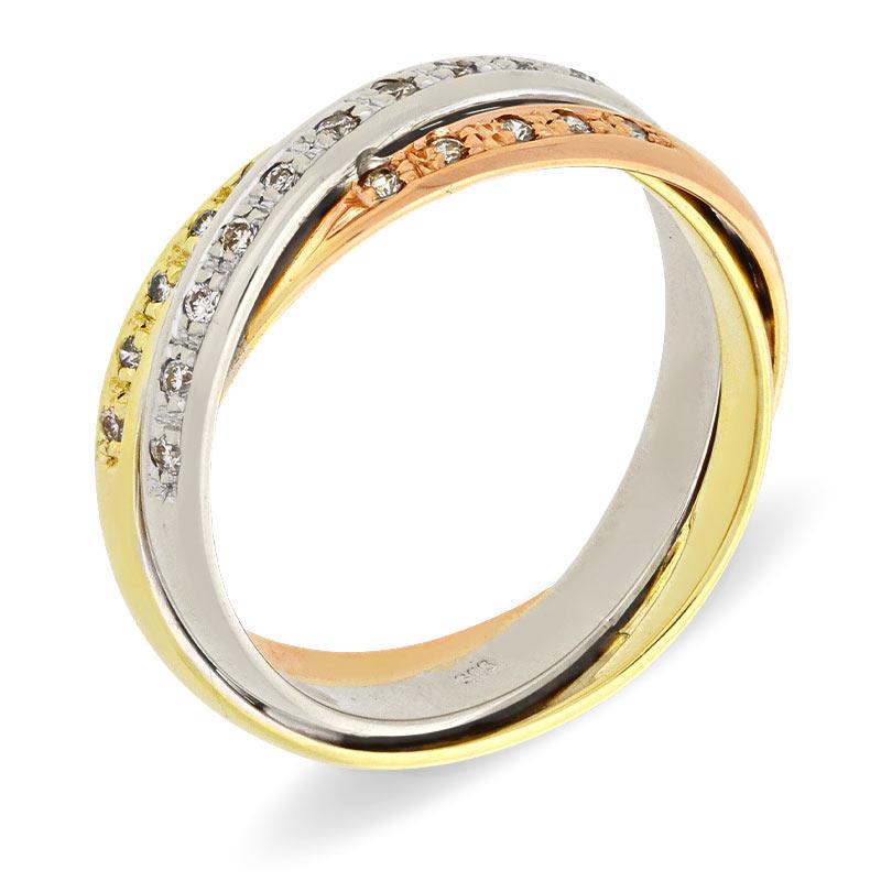 Brillant-Ring Tricolor