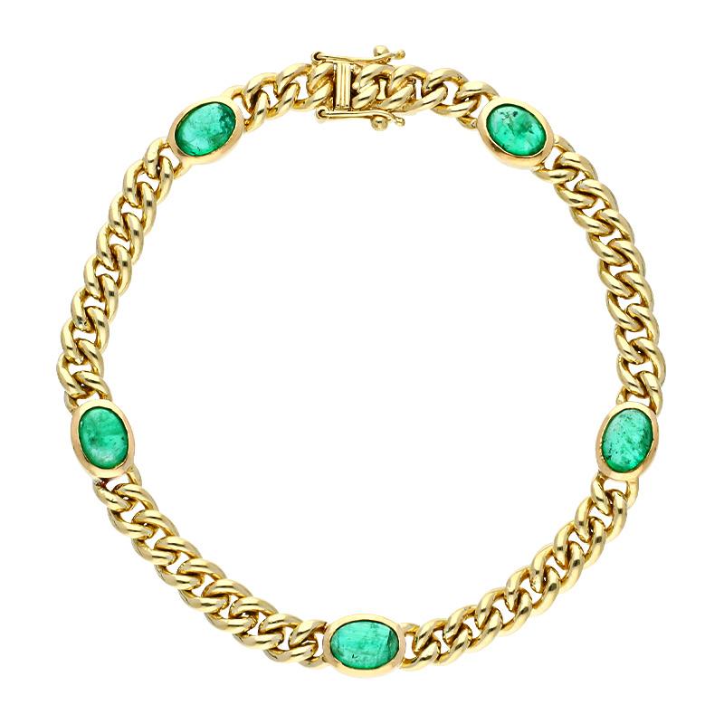 Smaragd-Armband Gelbgold