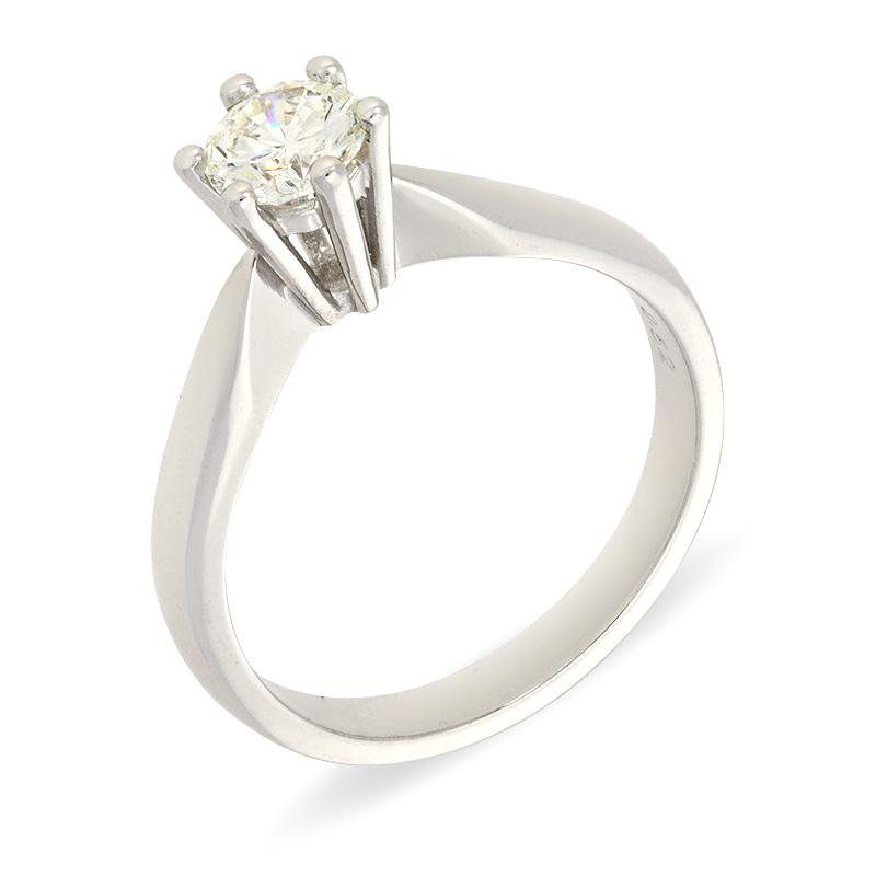 Solitär-Ring in Weißgold mit Brillant