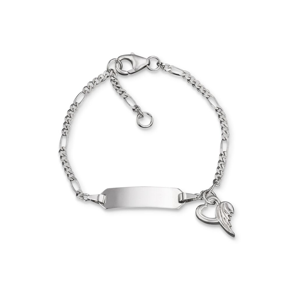 Herzengel ID-Armband Silber