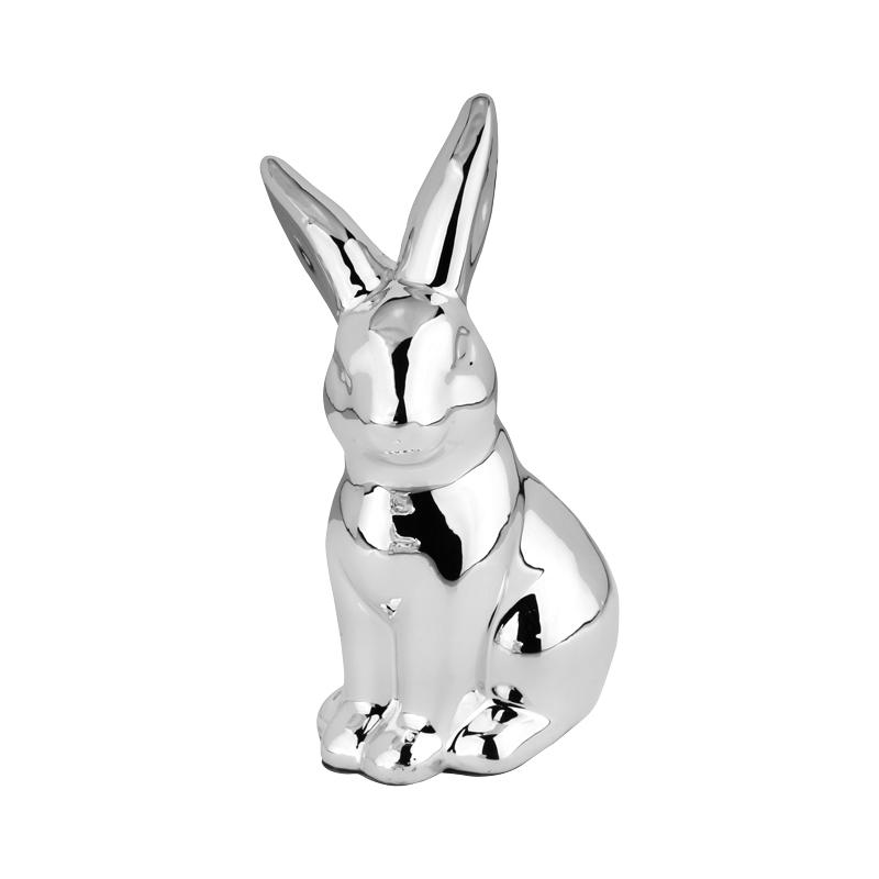 Ein Hase Porzellan/Silber