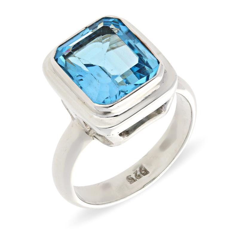 Topas-Ring Silber