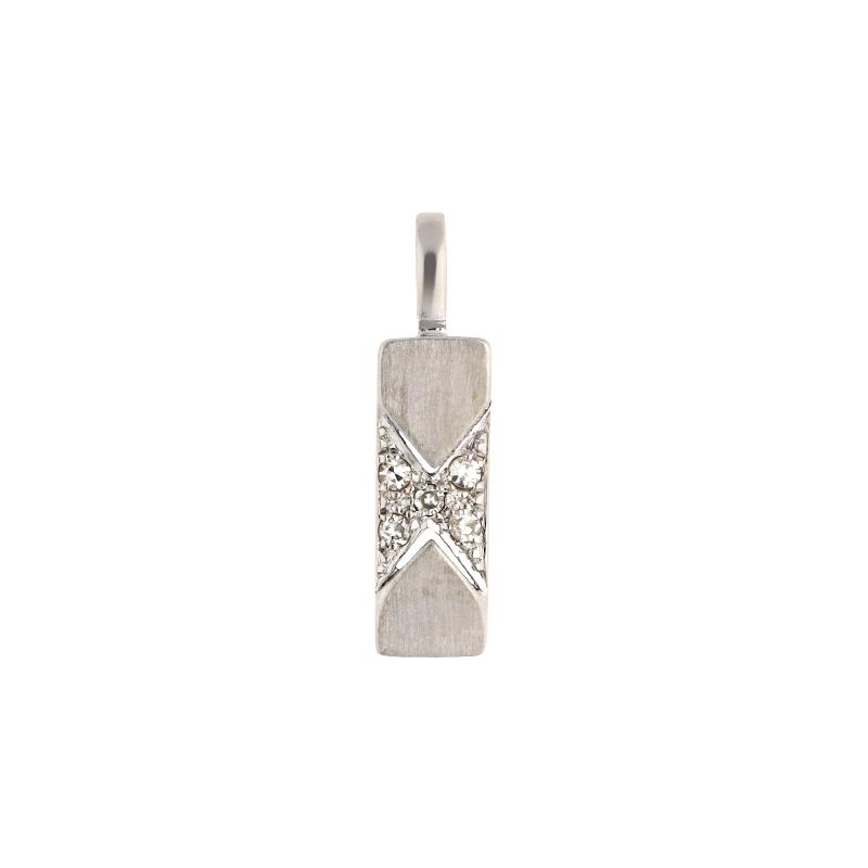 Diamant-Anhänger Weißgold