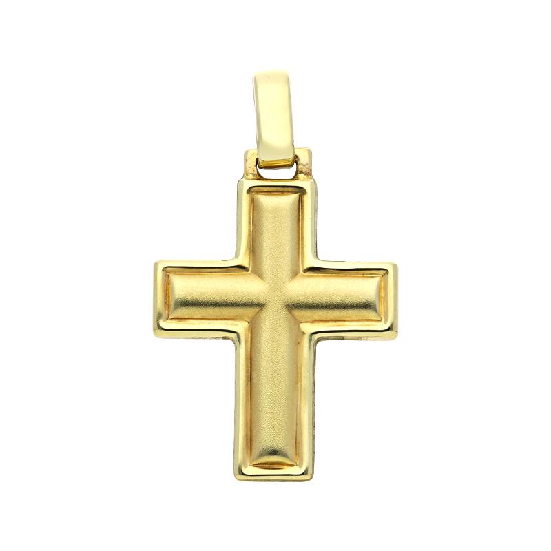 Kreuz-Anhänger Gelbgold