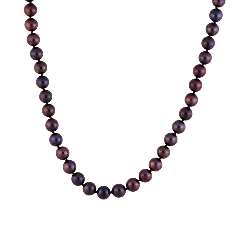 Akoya-Perlkette mit Weißgold-Schließe