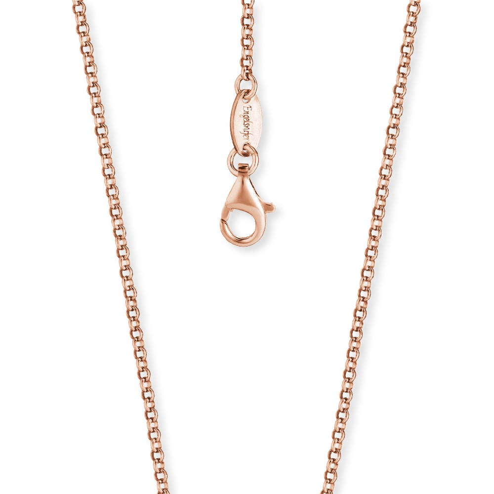 Kette Engelsrufer Silber, rosé-vergoldet 42 cm