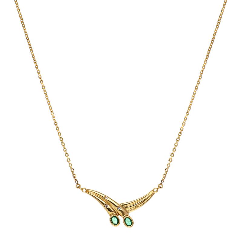 Smaragd-Collier Gelbgold