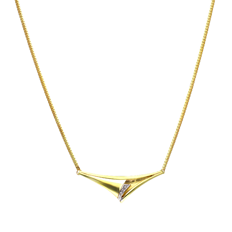 Diamant-Collier Bicolor