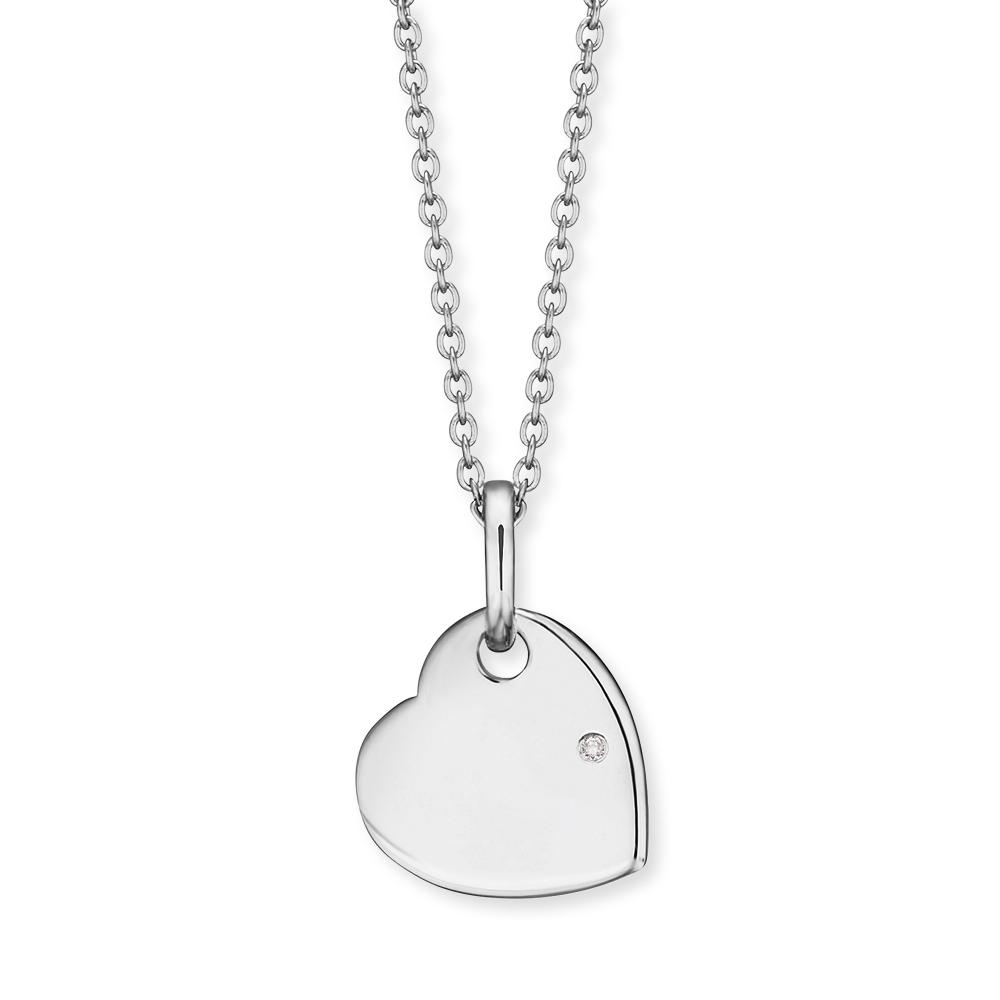 Herzengel Kette mit Anhänger Silber