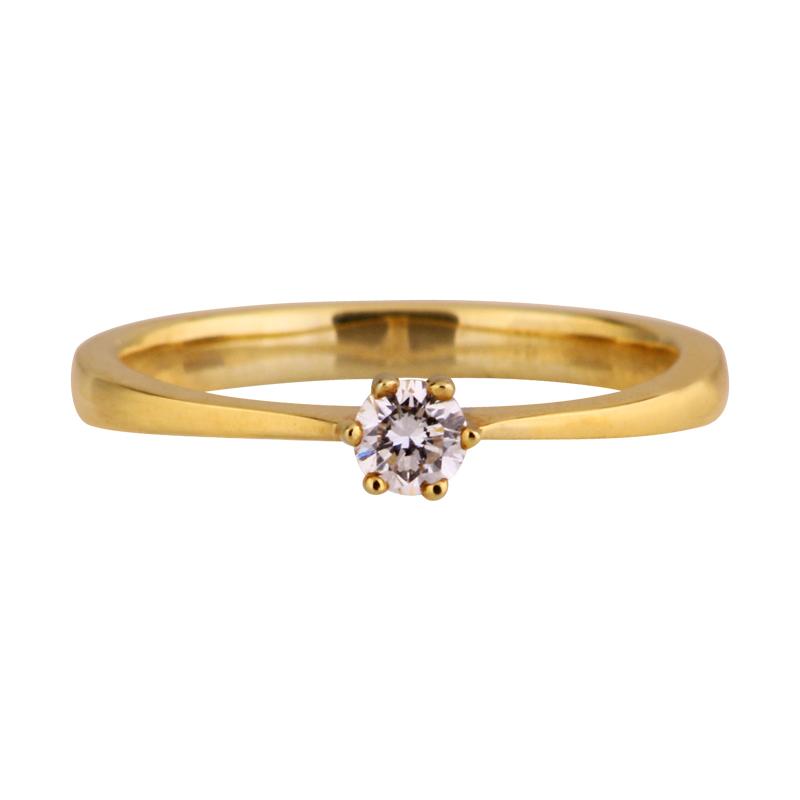 Brillant-Ring Gelbgold 0,16 ct