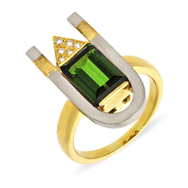 Turmalin-Ring Bicolor