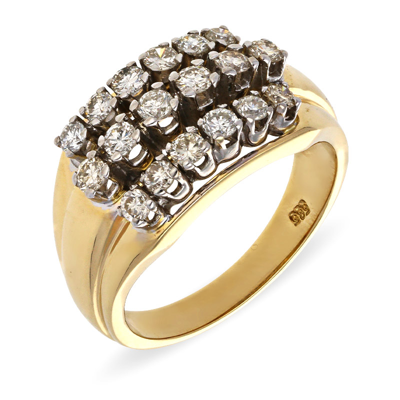 Brillant-Ring Gelbgold