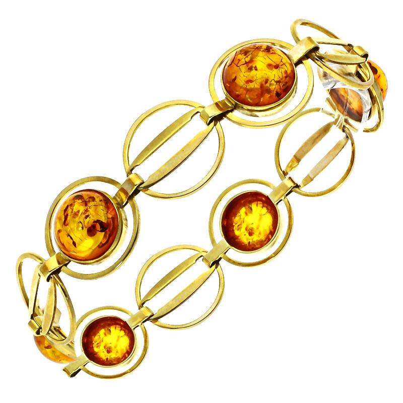 Bernstein-Armband Gelbgold