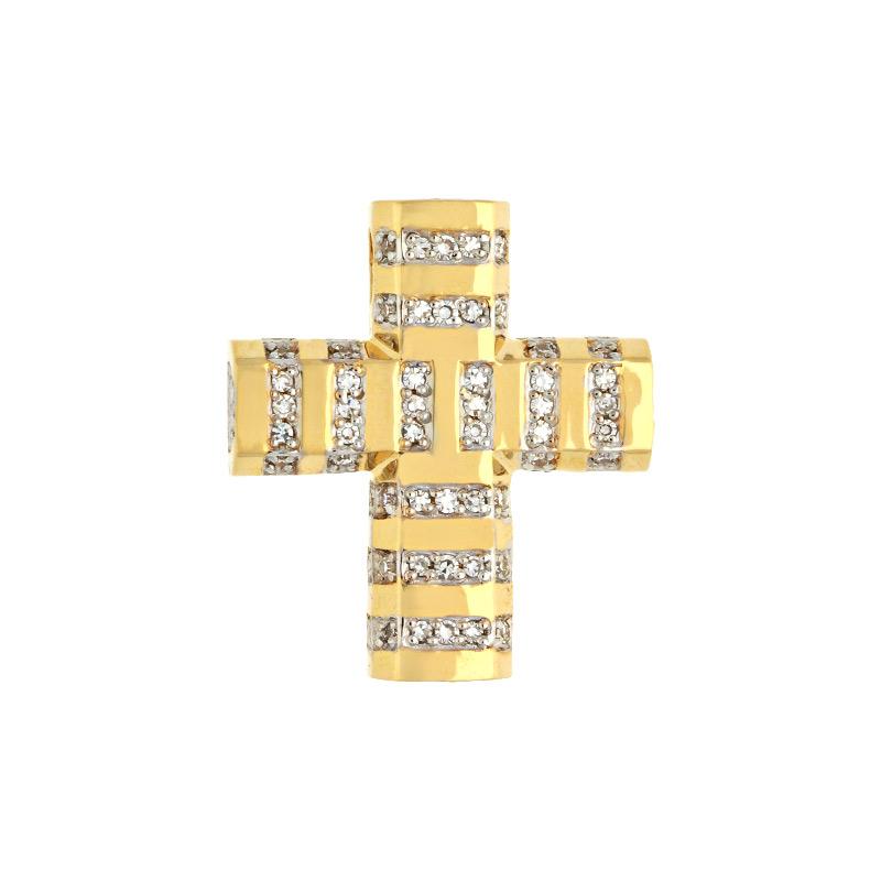 Diamant-Anhänger Gelbgold