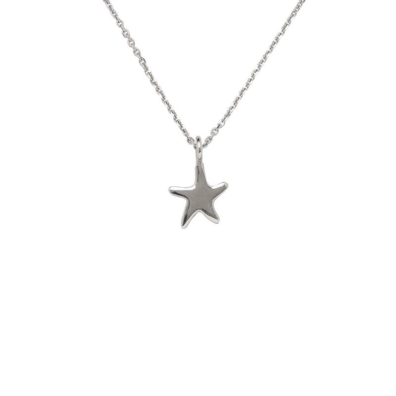 Stern-Anhänger mit Kette Silber