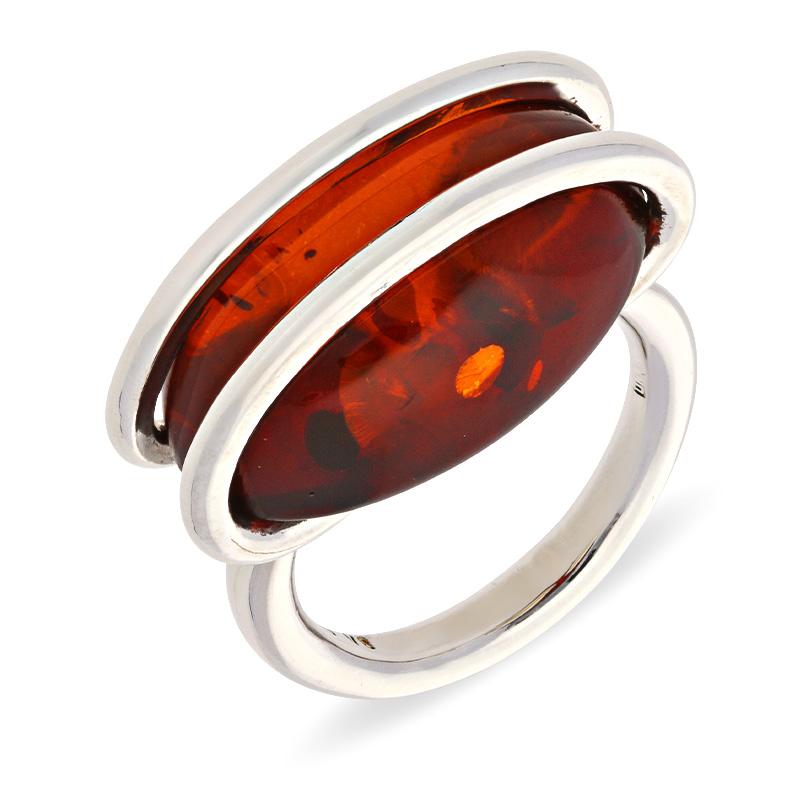 Bernstein-Ring Silber