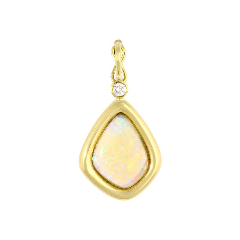 Opal-Anhänger Gelbgold