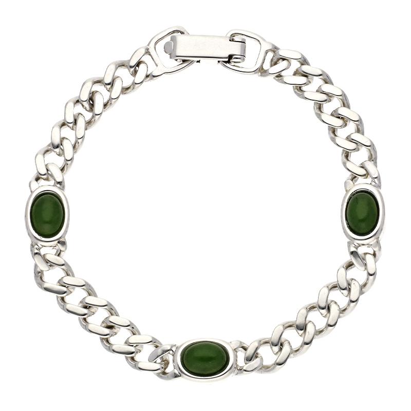 Jade-Armschmuck Silber