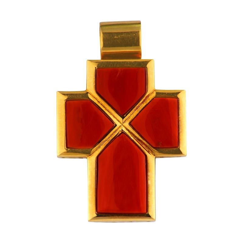 Korallen-Kreuz Gelbgold