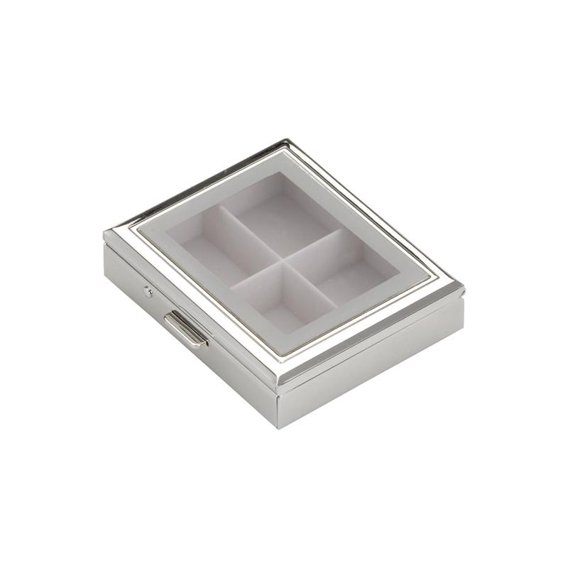 Pillendose mit Fenster 6,5x5,0cm