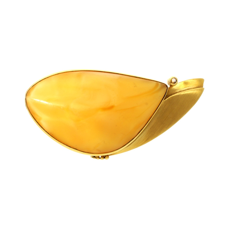 Bernstein-Anhänger Gelbgold