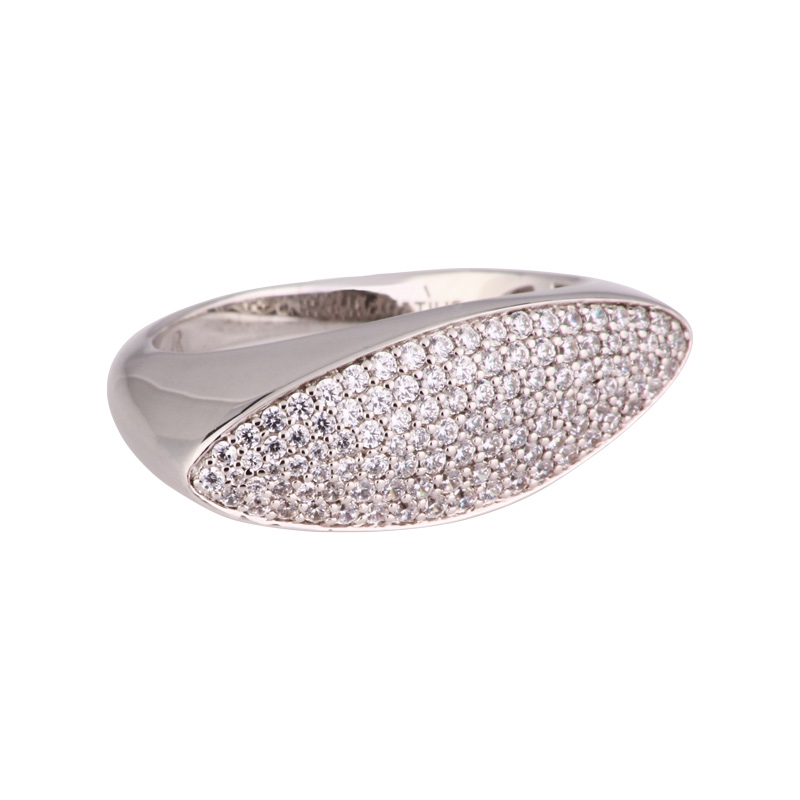 Funkelnder Damenring Silber rhodiniert