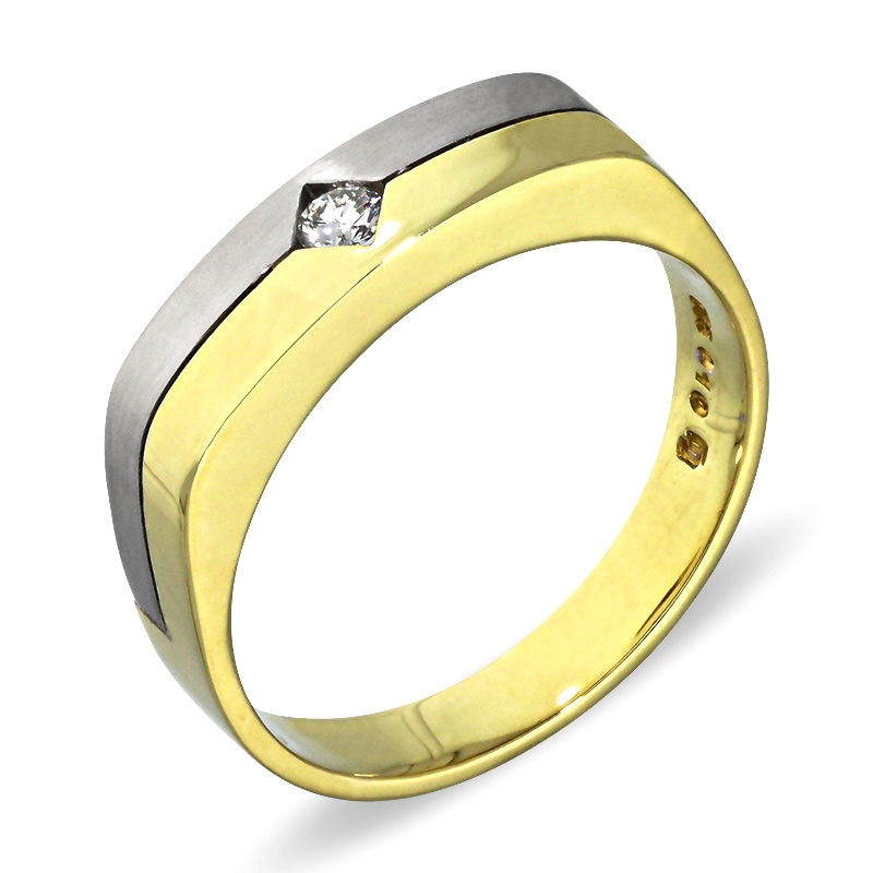 Brillant-Ring Bicolor