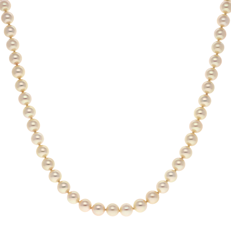 Perl-Collier Gelbgold