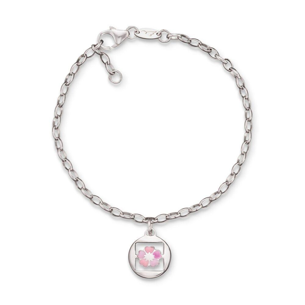 Herzengel Armband mit Anhänger Silber