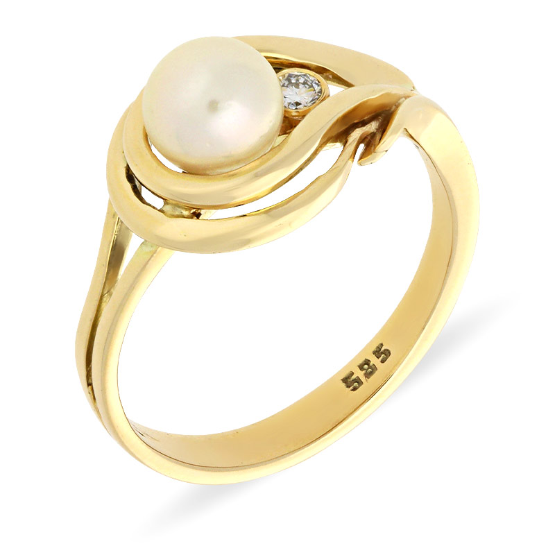 Perl-Ring Gelbgold