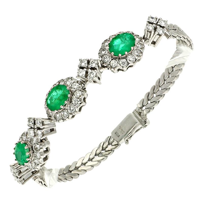 Armband mit Smaragd und Brillanten