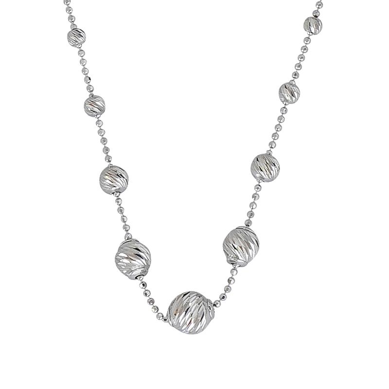 Kugel-Collier Silber