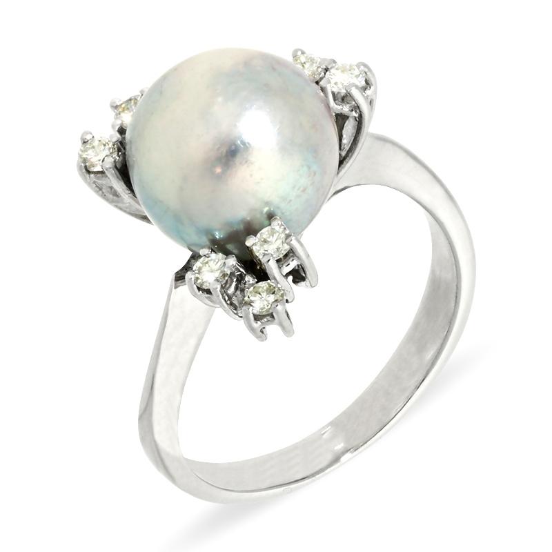 Ring mit Tahiti-Perle und Brillanten