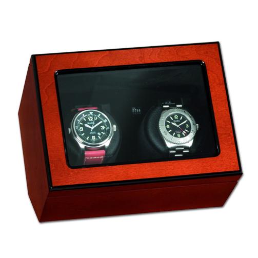 """Uhrenbeweger """"Atlantik"""" für zwei Uhren in Rosenholzdekor"""