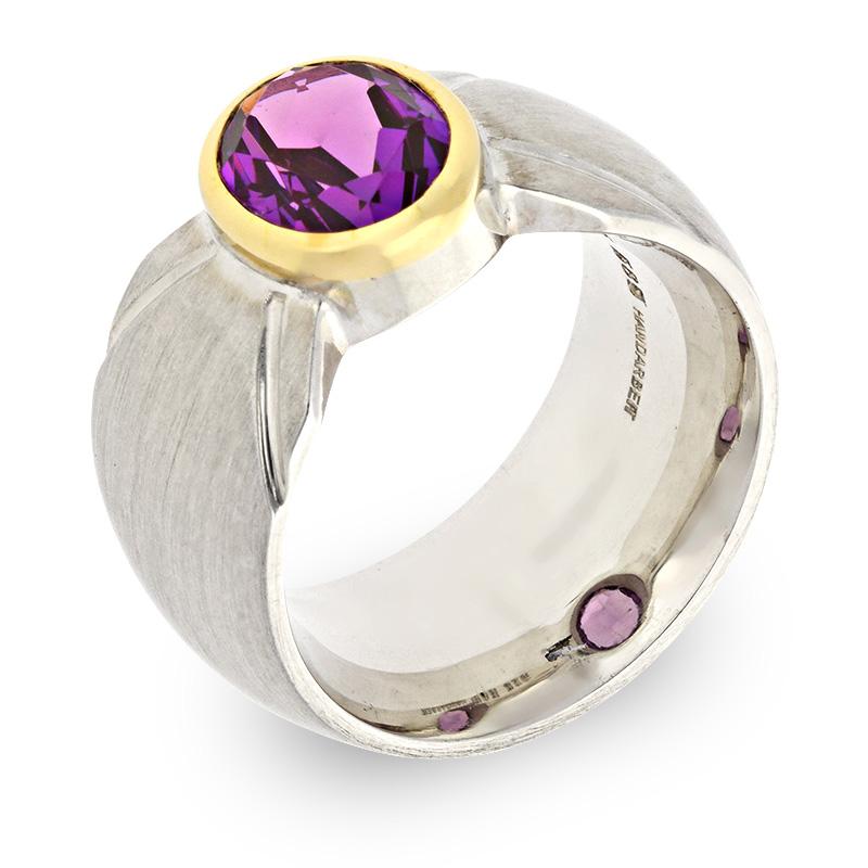 Safir-Ring Bicolor